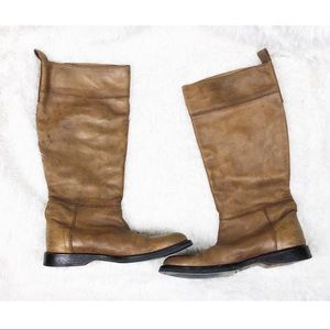 Costume National leather riding boots